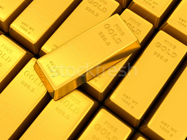 gold ingots Stock photo © Lupen
