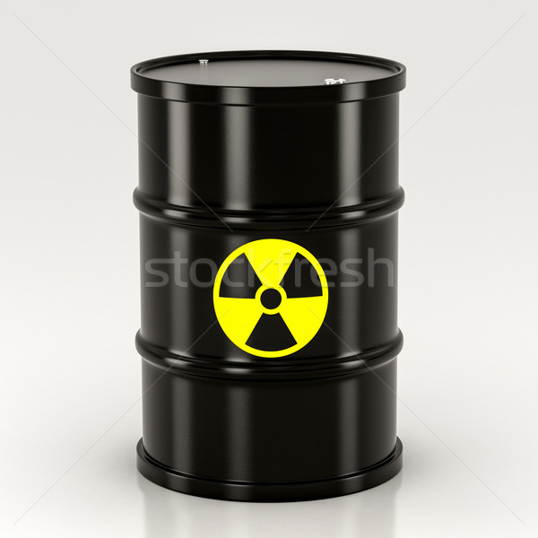 black radioactive barrel Stock photo © Lupen