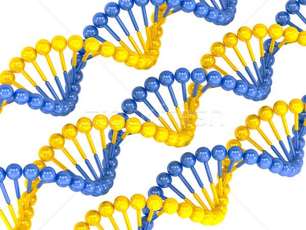 黄色 青 DNA鑑定を モデル 薬 絵画 ストックフォト © Lupen