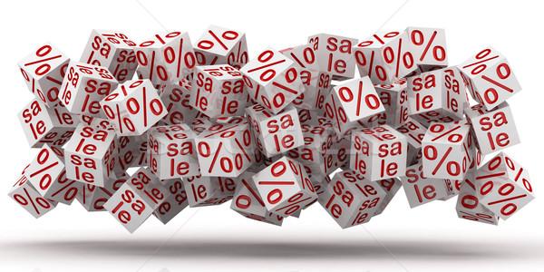 販売 キューブ パーセント 割引 白 ショッピング ストックフォト © Lupen
