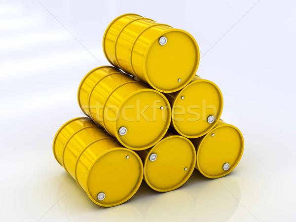 Giallo acciaio chimica tamburo barile carburante Foto d'archivio © Lupen