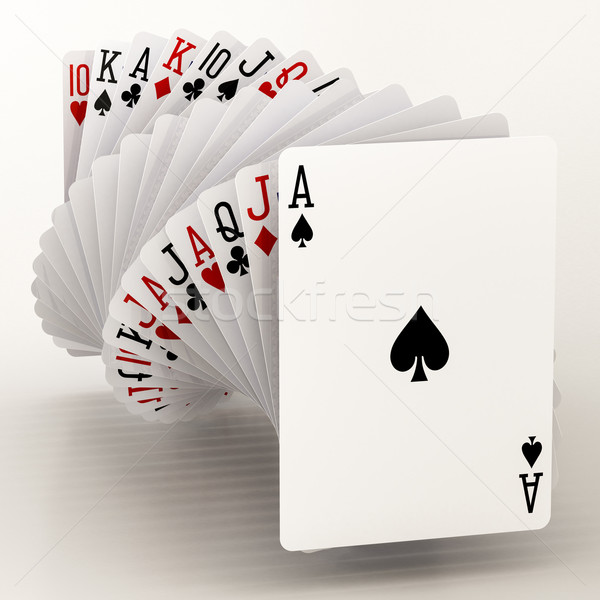 Poker kartları beyaz spor bilgisayarlar kart Stok fotoğraf © Lupen