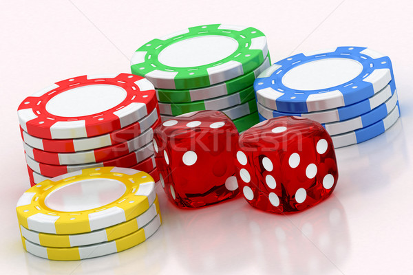 dice and chips Stock photo © Lupen