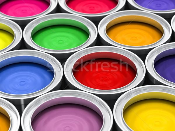 многие цвета краской радуга металл искусства Сток-фото © Lupen