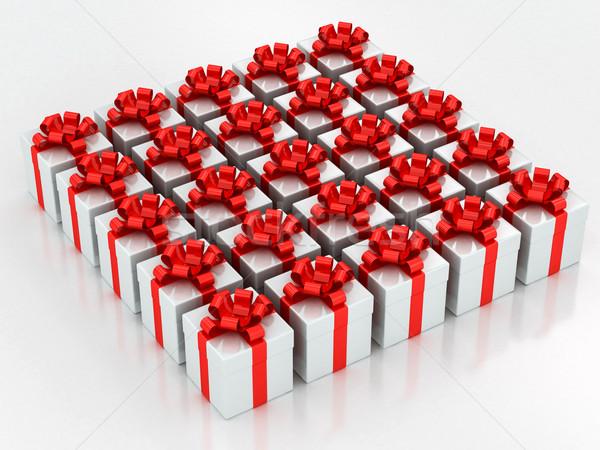 Witte partij verjaardag lint Stockfoto © Lupen