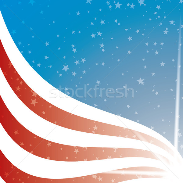 Egyesült Államok zászló csíkok csillagok illusztrált illustrator Stock fotó © Luppload