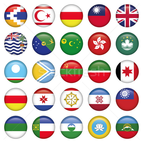 Asiatic Round Flags Stock photo © Luppload