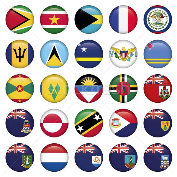 американский флагами мягкой Кнопки jpg иллюстратор Сток-фото © Luppload