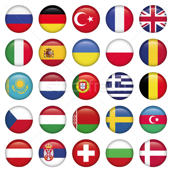 Europeo iconos banderas jpg eps10 Foto stock © Luppload
