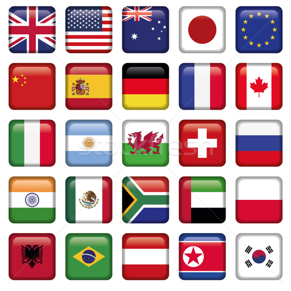Vector set of Flags world top states Stock photo © Luppload