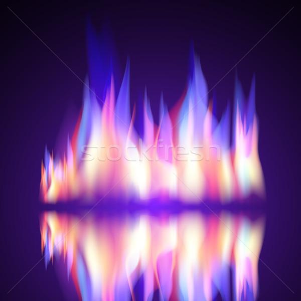 Benzin tűz láng égés vektor fekete Stock fotó © Luppload