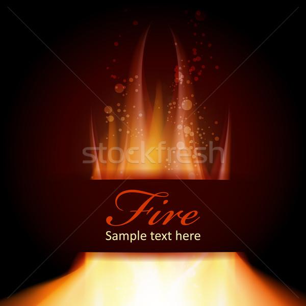 火災 難 黒 文字 スペース jpg ストックフォト © Luppload