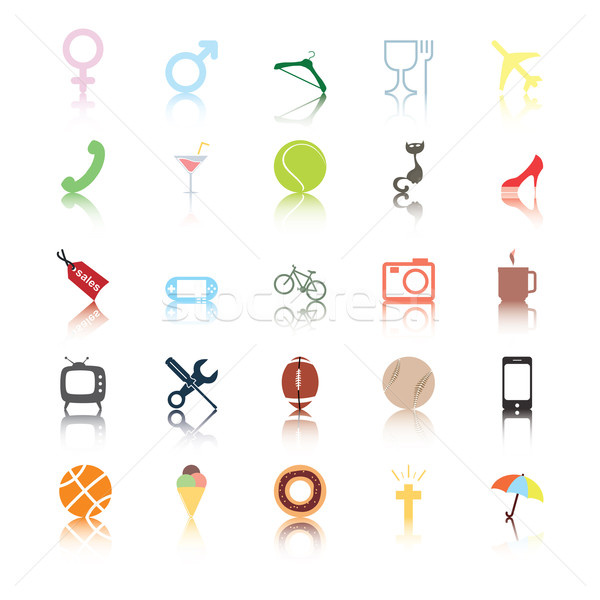 Social icons. People interests. Stock photo © Luppload