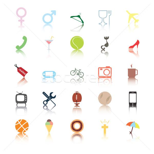 социальной иконки люди интернет бизнесмен знак Сток-фото © Luppload