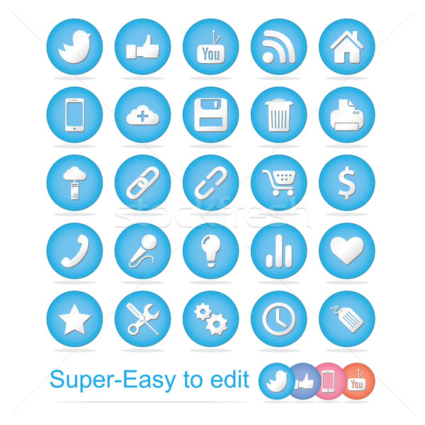 Social Icons Stock photo © Luppload