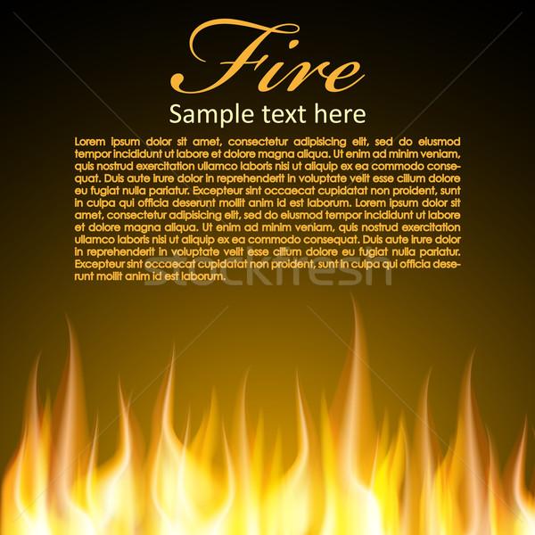 火災 デザイン jpg イラストレーター eps10 ベクトル ストックフォト © Luppload