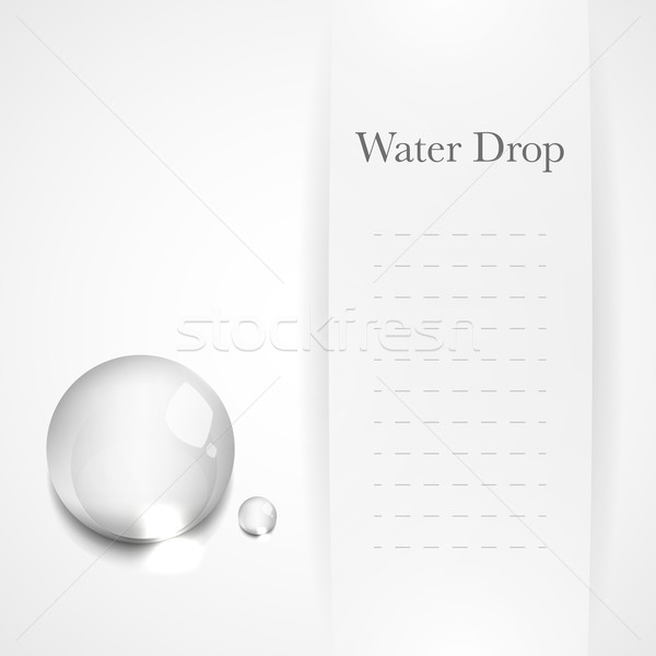 Transparent water drop on light gray background Stock photo © Luppload