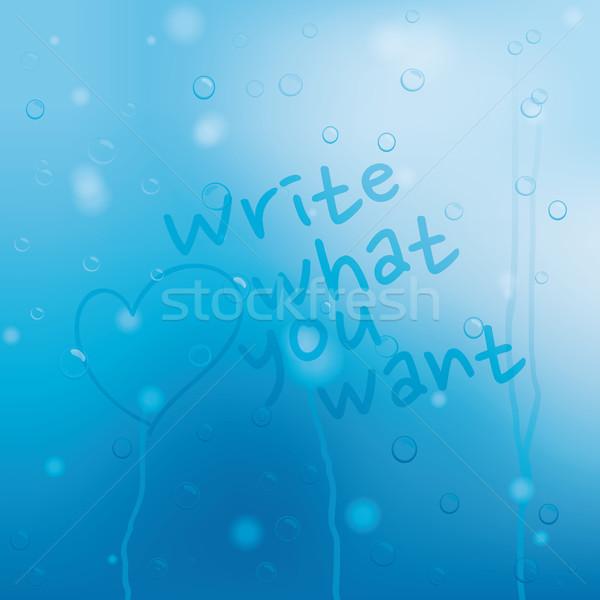青 水滴 グランジ jpg イラストレーター eps10 ストックフォト © Luppload