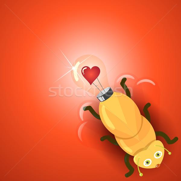 Amour ampoule luciole idée lumière jpg Photo stock © Luppload
