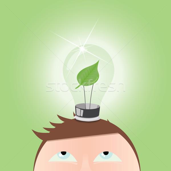 Vetor verde idéia pensando jpg Foto stock © Luppload