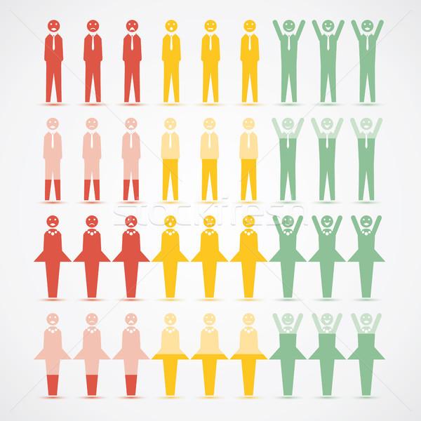 Férfiak nők infografika hangulat grafikus illusztrált Stock fotó © Luppload