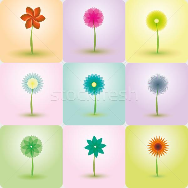 抽象的な 花 ベクトル 背景 図示した イラストレーター ストックフォト © Luppload