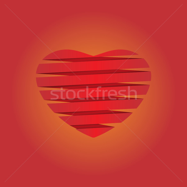 Foto stock: Coração · origami · ilustração · valentine · arquivo · casamento
