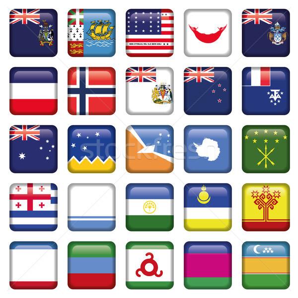 Orosz zászlók tér gombok jpg illustrator Stock fotó © Luppload