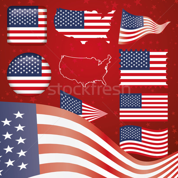 United States of America symbol set Stock photo © Luppload