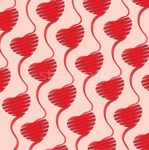 сердце оригами иллюстрация Валентин файла счастливым Сток-фото © Luppload