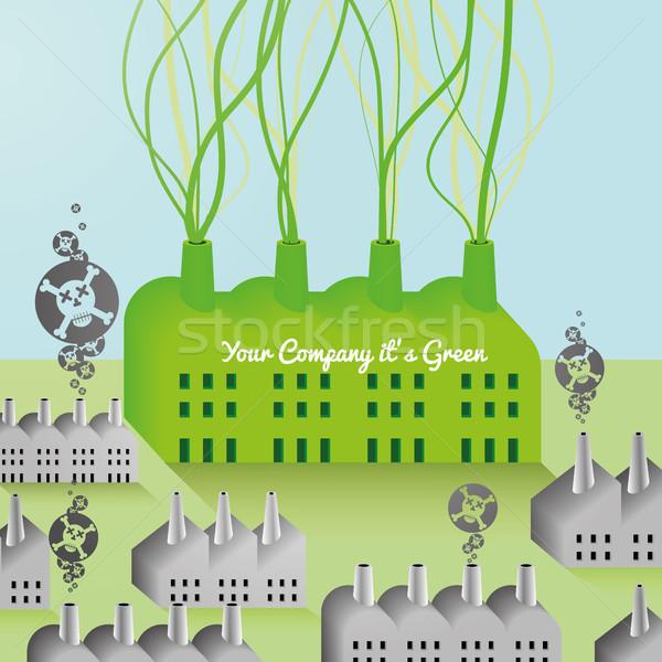 Verde companhia fábrica abstrato jpg illustrator Foto stock © Luppload