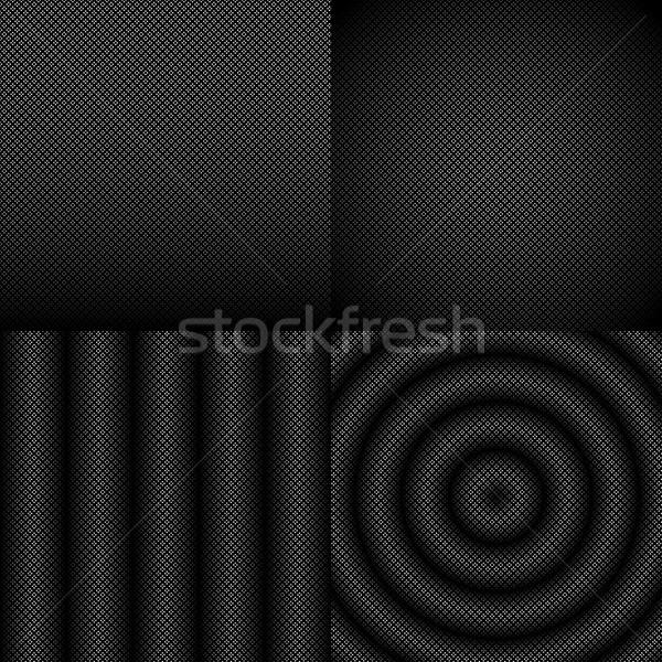 シームレス 黒白 抽象的な パターン セット 幾何学的な ストックフォト © Luppload