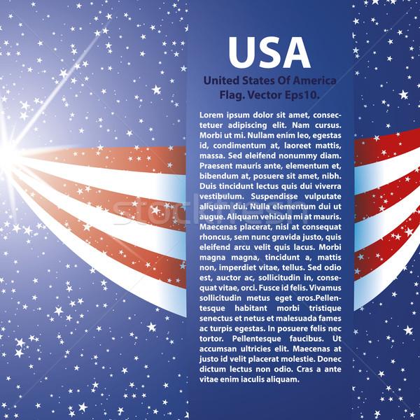 Egyesült Államok Amerika zászló USA csíkok csillagok Stock fotó © Luppload