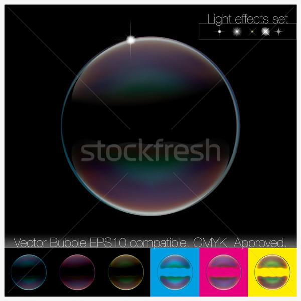 Színes átlátszó szappanbuborék szett külső szép Stock fotó © Luppload