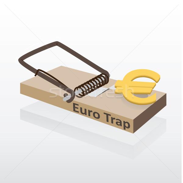 Euro pénz fehér papír egér háttér Stock fotó © Luppload