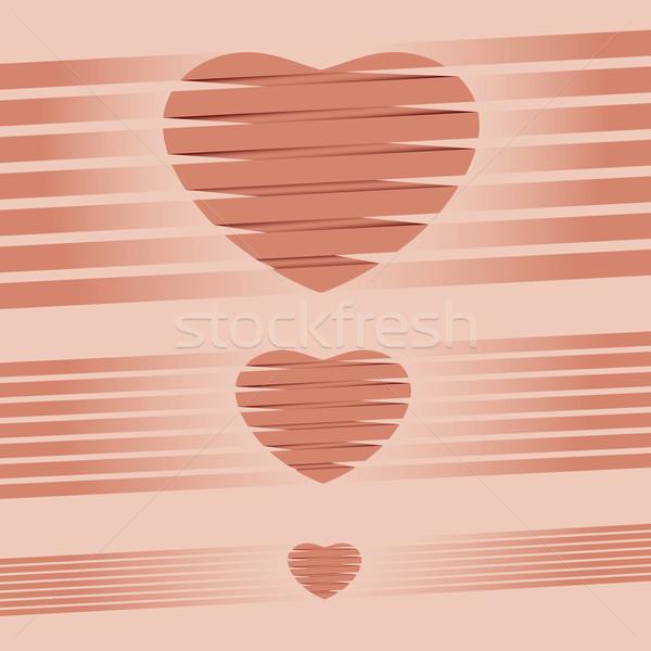 сердце оригами розовый Валентин файла свадьба Сток-фото © Luppload