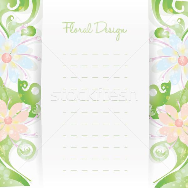 Virágmintás kártya meghívó sablon virág terv Stock fotó © Luppload