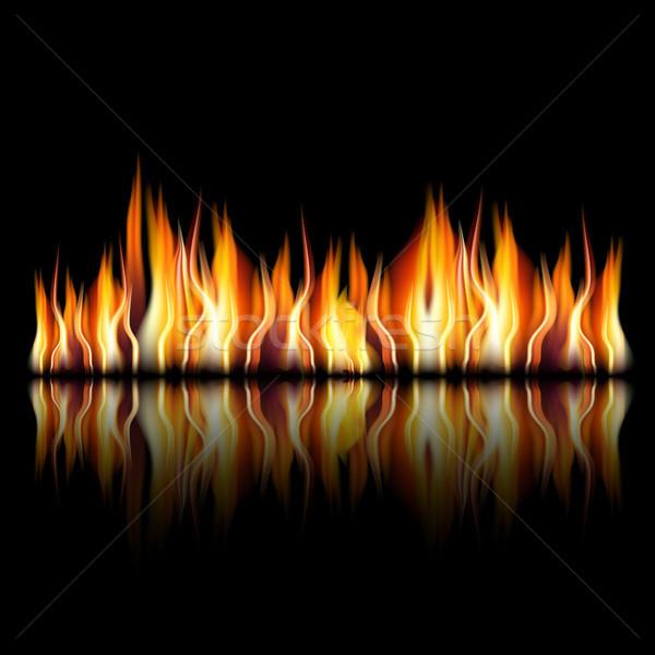 égő tűz láng fekete illusztráció jpg Stock fotó © Luppload