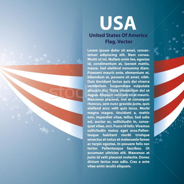 USA csíkok szöveg űr magas döntés Stock fotó © Luppload