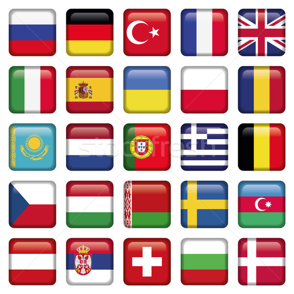 Europa iconen vlaggen jpg illustrator eps10 Stockfoto © Luppload