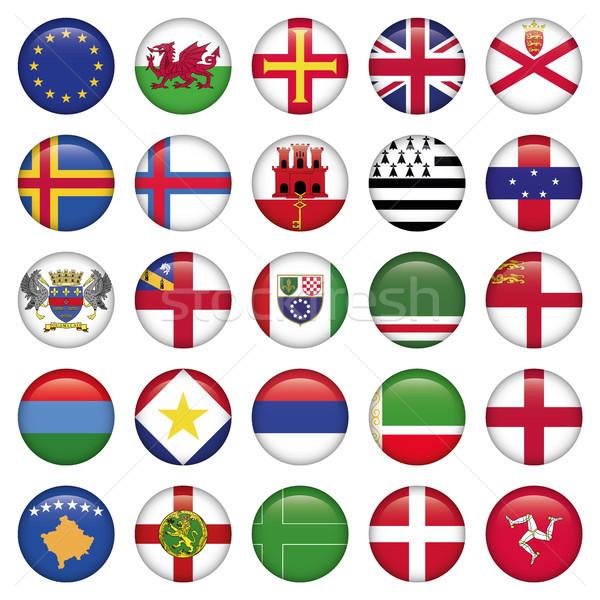 Set of European Round Flag Icons Stock photo © Luppload