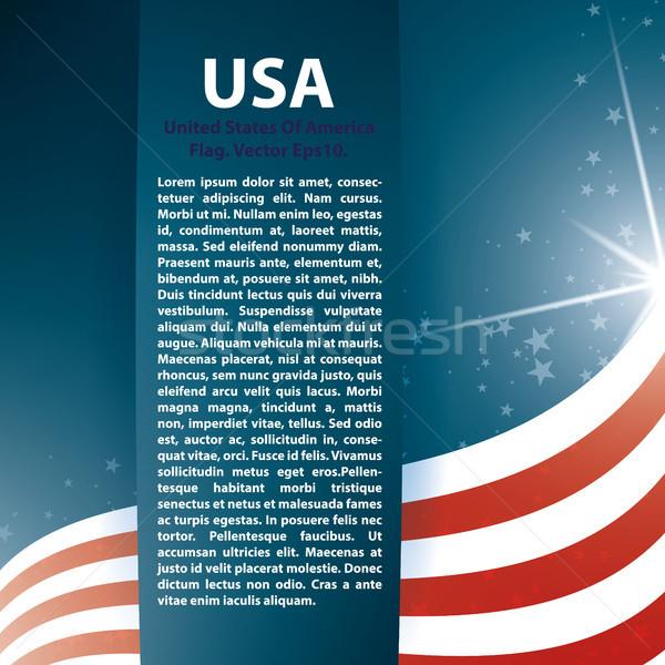 USA zászló csillagok szöveg absztrakt jpg Stock fotó © Luppload