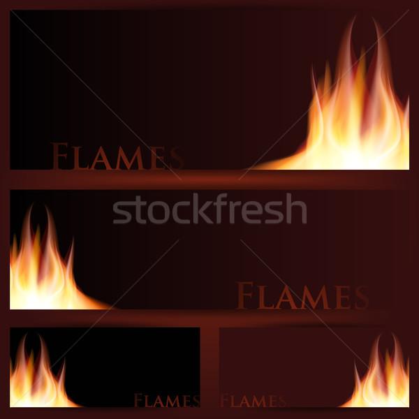 вектора огня кадры черный иллюстрированный иллюстратор Сток-фото © Luppload