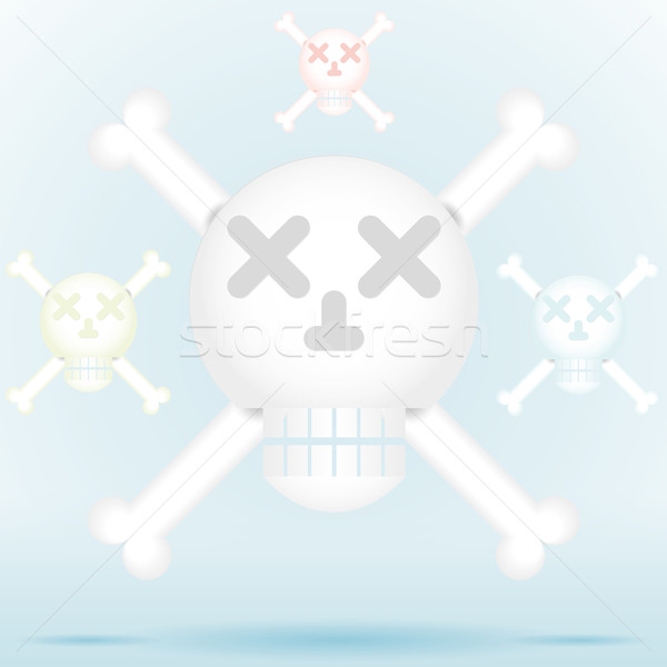 Skull and crossbones icon style in different color Stock photo © Luppload
