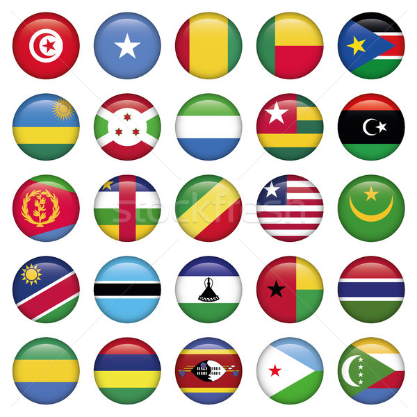 Africa Flags Round Buttons Stock photo © Luppload