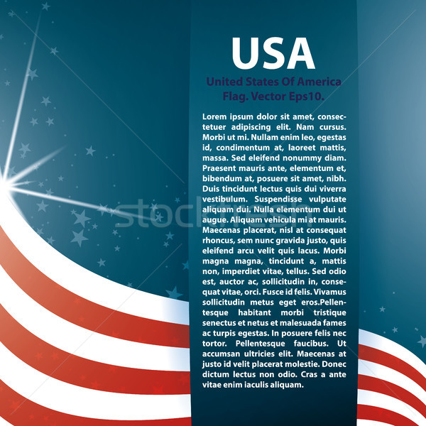 Vector background USA flag and Text Stock photo © Luppload