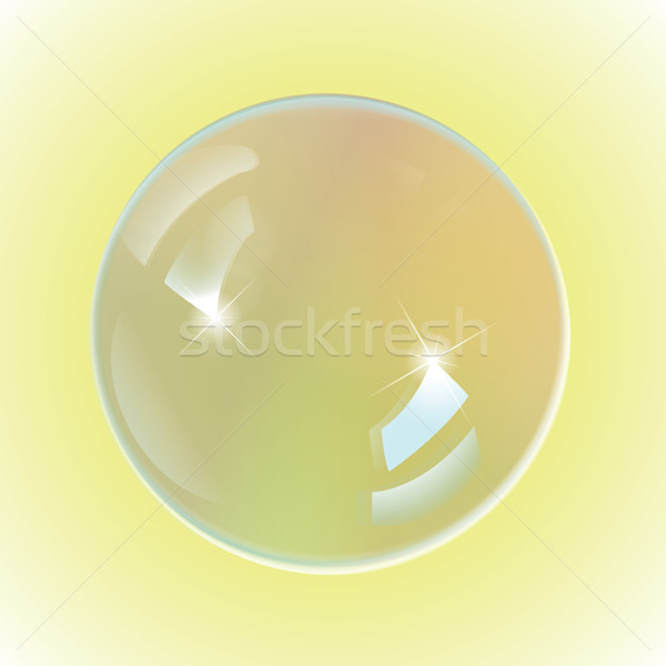 bubble white on yellow background Stock photo © Luppload