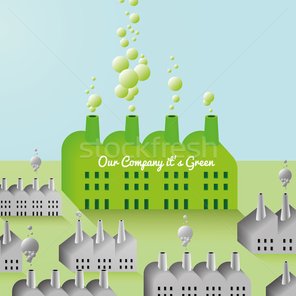 Green Company and Factory abstract Background Stock photo © Luppload