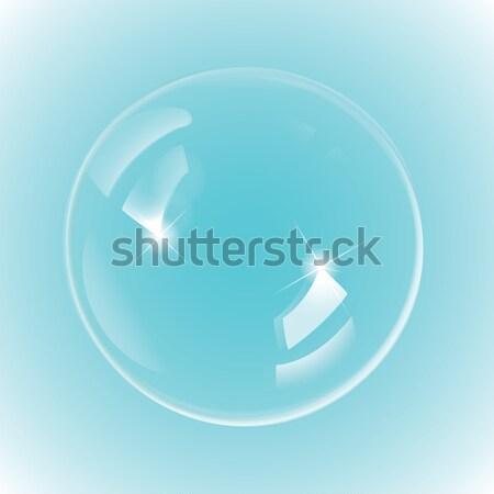 Arco-íris bolhas de sabão eps10 vetor luz projeto Foto stock © Luppload