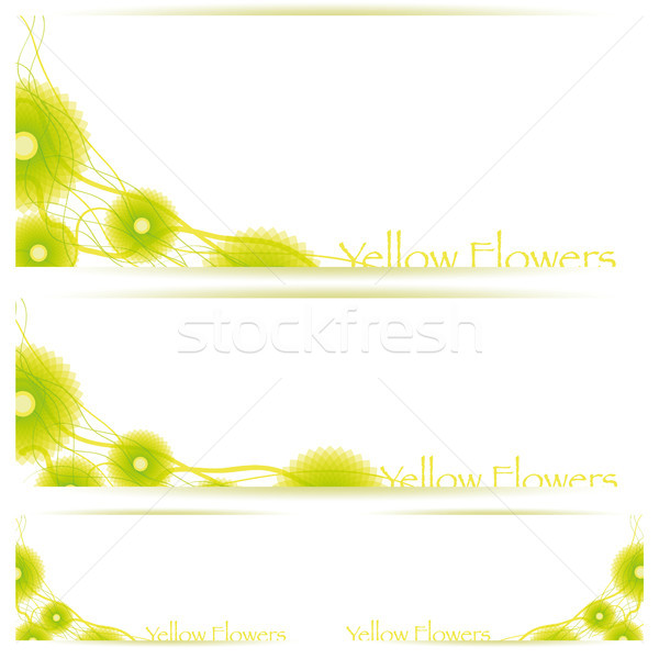 Flower vector background brochure template Stock photo © Luppload